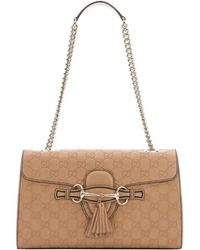 Gucci Cameo Sima Leather 'Emily' Chain Shoulder Bag - Lyst