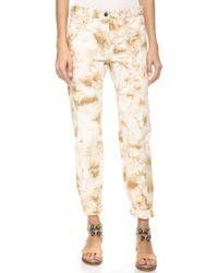 3.1 Phillip Lim - Splattered Grunge Jeans - Tan/white - Lyst