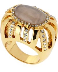 Kara By Kara Ross Gold-plated Wave Ring - Lyst