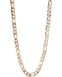 Forever 21 - Figaro Chain Link Necklace - Lyst
