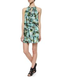 Parker Amazonia Fleur Silk Dress - Lyst