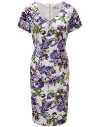 Cc Petite Oriental Print Dress - Lyst