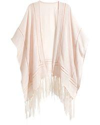 H&M   Fringed Kimono   Lyst