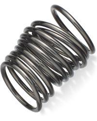Material Girl - Gunmetal-Tone Stackable Midi Ring Set  - Lyst