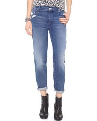Mother The Dropout Slouchy Skinny Jeans - Graffiti Girl - Lyst