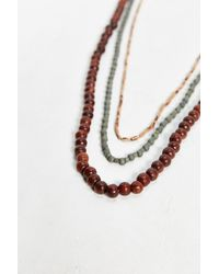 Urban Outfitters - Long Wood Bead Necklace Set - Lyst