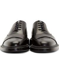 Yang Li - Black Leather Wholecut Derbys - Lyst