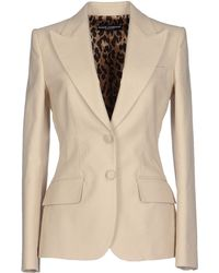 Dolce & Gabbana Blazer beige - Lyst