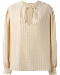 Alessandra Rich | Pinstriped Blouse | Lyst