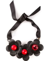 P.A.R.O.S.H. Flower Ribbon Necklace - Lyst