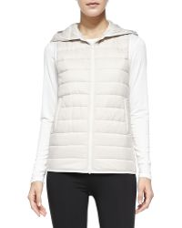 Theory Velvian Hooded Puffer Vest - Lyst
