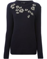Gucci Blue Embroidered Top - Lyst