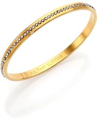 Kate Spade All That Glitters Crystal Idiom Bangle Bracelet - Lyst