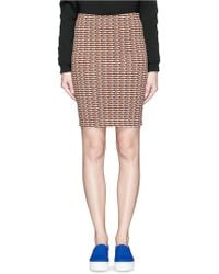 Opening Ceremony | Check Stretch Knit Pencil Skirt | Lyst