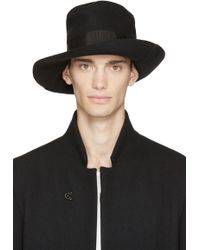 Attachment - Black Wool And Cashmere Hat - Lyst