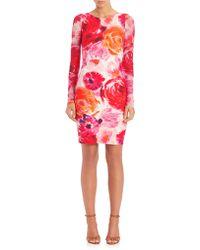 Fuzzi | Rose-print Bodycon Dress | Lyst