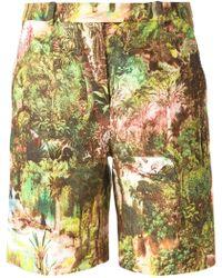 Carven Jungle Print Shorts - Lyst