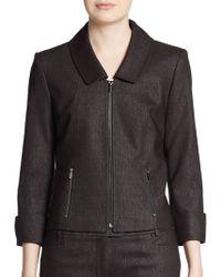 Calvin Klein Three-Quarter Cuffed Zip Jacket - Lyst