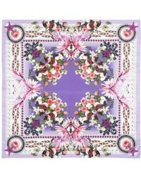 Givenchy Paradise Flower Print Cotton-Silk Scarf - Lyst