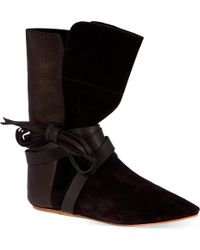 Isabel Marant Nira Suede and Leather Boots - Lyst