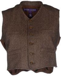 Ralph Lauren Collection Top brown - Lyst