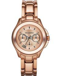 Karl Lagerfeld Unisex Karl 7 Klassic Rose Goldtone Chronograph Watch pink - Lyst