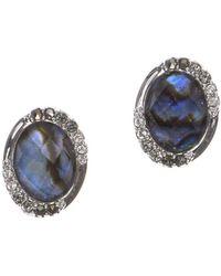 Judith Jack - Marble Stud Earrings - Lyst