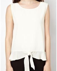 Boutique by Jaeger - Top With Frill Hem - Lyst
