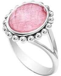 Lagos 'Maya' Small Doublet Ring - Rhodochrosite - Lyst