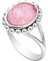 Lagos 'Maya' Small Doublet Ring - Rhodochrosite pink - Lyst