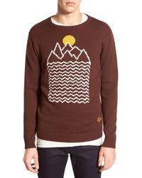 Altru - 'mountain & Sun' Intarsia Crewneck Sweater - Lyst