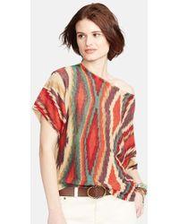 Lauren by Ralph Lauren - Linen & Cotton Southwestern Print Sweater - Lyst