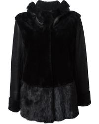 Sylvie Schimmel Contrast Fur Coat - Lyst