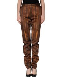 Celine Brown Casual Pants - Lyst