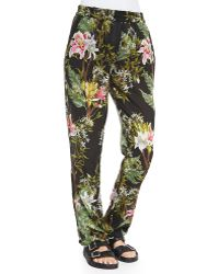 Etoile Isabel Marant Wilford Floral-Print Tapered Pants - Lyst