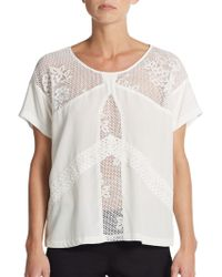 Madison Marcus Harmony Lace-Inset Top - Lyst