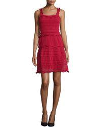 Lanvin Scallop-Tiered Knit Tank Dress - Lyst