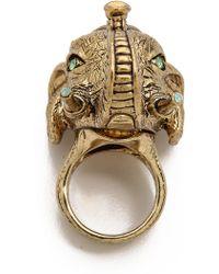House of Harlow 1960 - Elephant Prosperity Ring Gold - Lyst