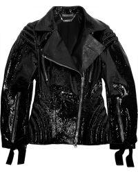 Alexander McQueen Patentleather Biker Jacket - Lyst