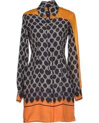Pianurastudio Orange Short Dress - Lyst