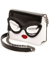 Alice + Olivia Alice  Olivia Stacey Face Mini Clee Bag  Black and White - Lyst