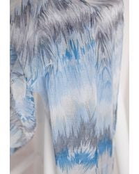 Missguided - Watercolour Print Scarf Blue - Lyst