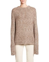 The Row Rane Tweed Knit Sweater brown - Lyst