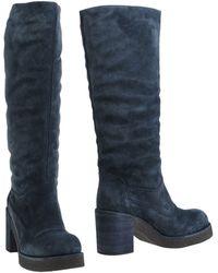 Jil Sander Navy Boots blue - Lyst