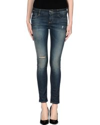IRO Denim Trousers blue - Lyst