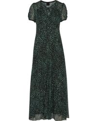 Anna Sui Printed Silk Georgette Maxi Dress - Lyst