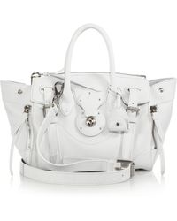 Ralph Lauren Collection Soft Ricky 27 Leather Satchel white - Lyst