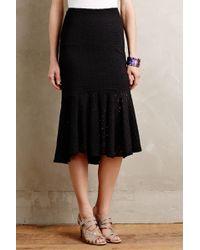 Weston - Flared Lace Midi Skirt - Lyst