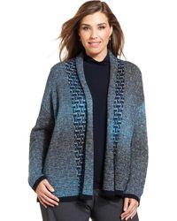 Jones New York Collection Plus Size Patternedknit Cardigan - Lyst