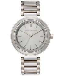 Kenneth Jay Lane Stainless Steel Round Silvertone Dial Watch - Lyst
